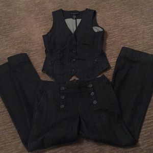 New York & Company denim vest & dress pants